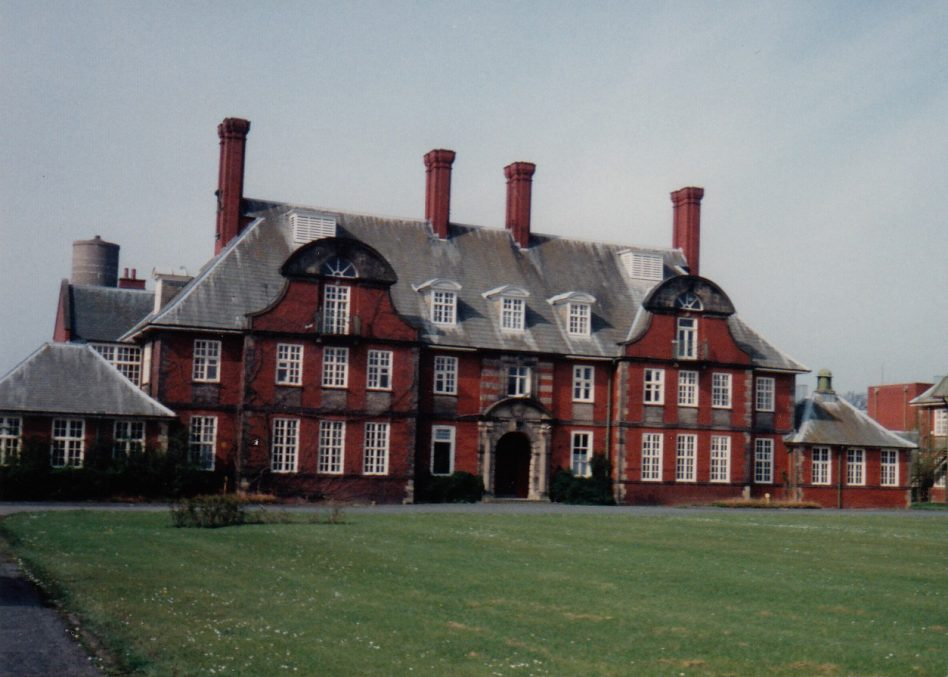 The main building at Brockhall Hospital 1993. This building would have been here since its first days as Lancashire Inebriates Reformatory, which opened in 1904.  | Courtesy of Lancashire County Council Museums Service
