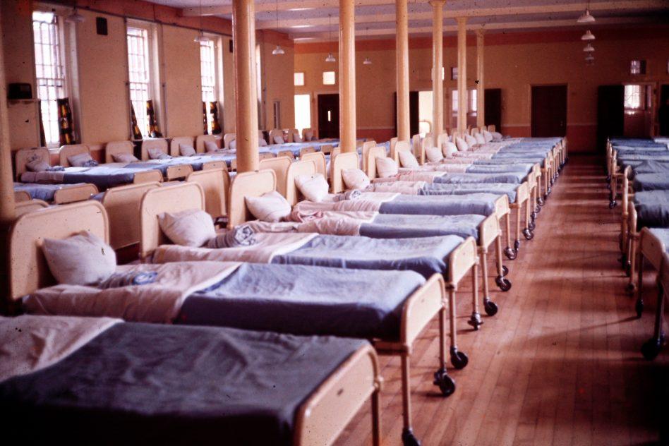 Dormitory on Ward E1 at Calderstones 1971. | Courtesy of Gill Cott
