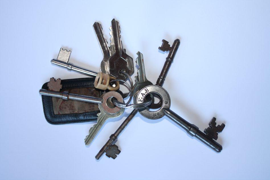 Set of keys from Calderstones  | Courtesy of Joanne Marshall