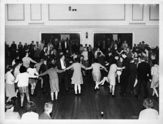 A dance in the main hall at Calderstones. Probably in the 1960s. | Courtesy of David Fitzpatrick