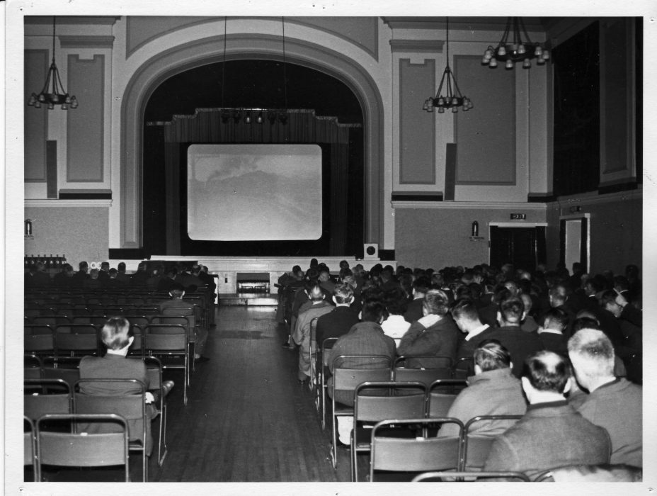 At the cinema in the hall at Calderstones, probably in the 1960s.  | Courtesy David Fitzpatrick