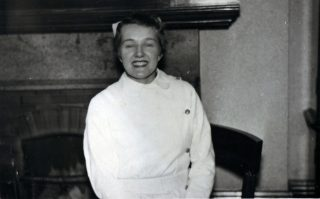 Mrs Creed as a nurse at the Royal Albert Hospital, early in her career | Courtesy of Mrs Creed