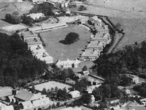This is a close up of the male side of Brockhall. The view is from the larger aerial photograph.  | Courtesy of Lancashire County Council Museum Service