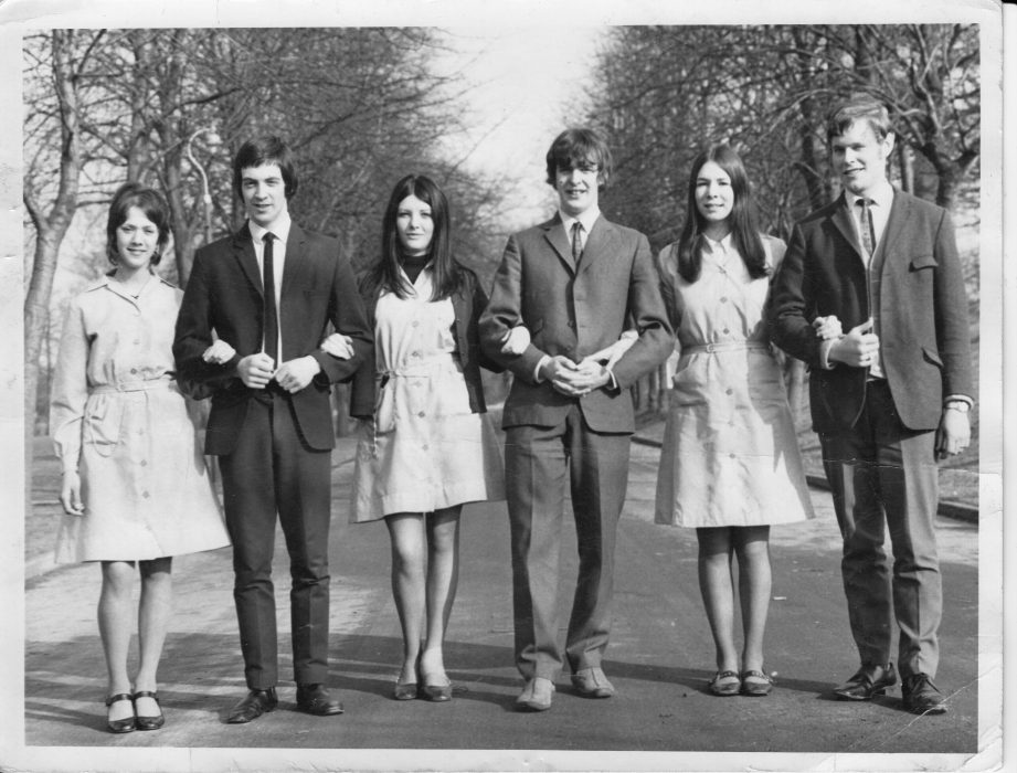 David Whalley (second from the left) in 1970 during his days as a student nurse at Calderstones.  | Courtesy of David Whalley
