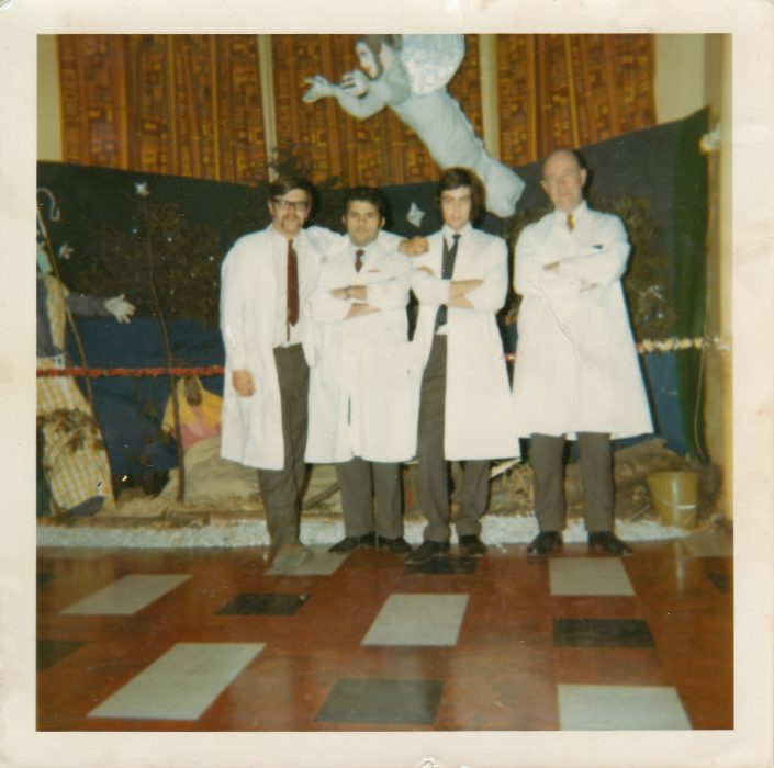 BI Ward Christmas 1971. David Whalley – second from right as look – age 20 years old.  | Courtesy of David Whalley