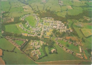 Brockhall - aerial view. The male wards are the bottom loop, with Johnswood probably the last 'E' block on the bottom left.  | Courtesy of Brenda Kay