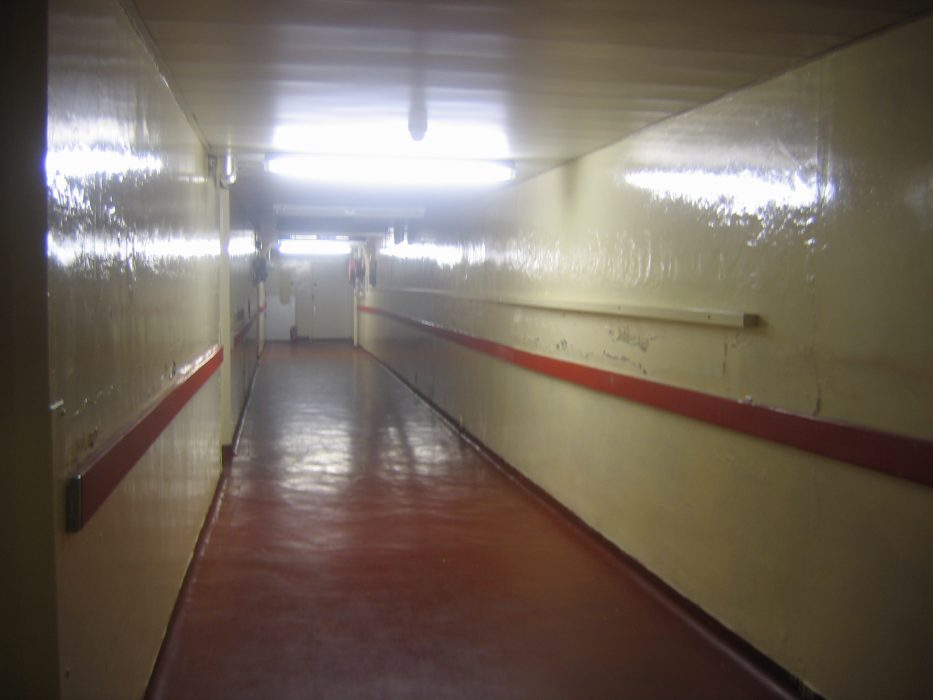 The basement at the former Royal Albert, as it was in 2006. In the 1930s the bathroom would have been in one of the rooms off this corridor.  | Nigel Ingham
