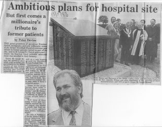 Clitheroe Advertiser headlines about the memorial on May 13 1993 (Courtesy of Clitheroe Advertiser) Note: For the full report please click on the link in the text.