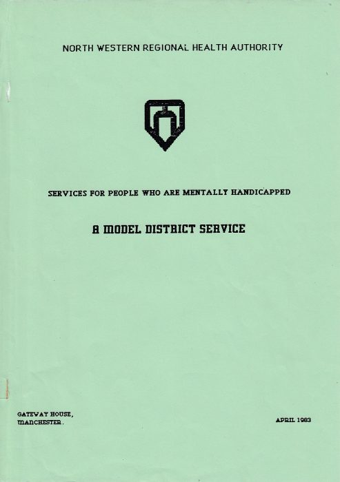 The cover of the North West Regional Health Authority's 'A Model District Service' 1983 | Courtesy of Tom McLean