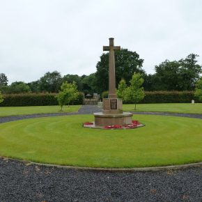 Commonwealth Graves War Memorial, as it looked in July 2016). This is part of a Calderstones war graves cemetery, which has the bodies of some of the service personnel who died while the institution was a military hospital during the world wars. It is, quite rightly, well-looked after but its recent story is in stark and shocking contrast to the neighbouring institutional cemetery.  | Pathways Associates