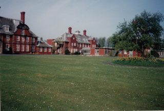 A deserted Brockhall Hospital in 1993 before demolition.  | Lancashire County Council Museums Service