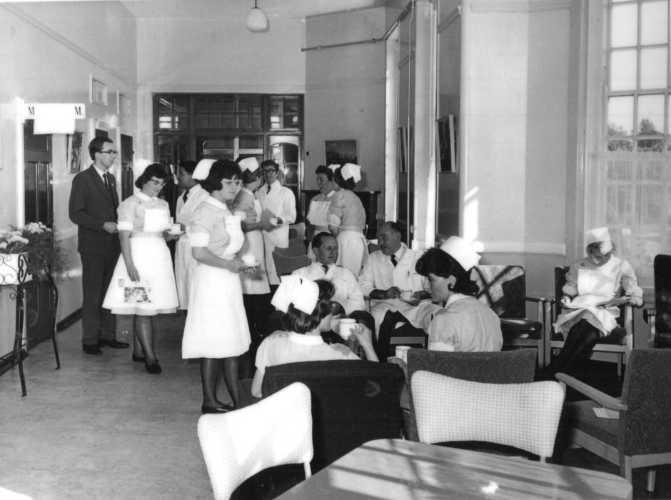 Nurses on their break at Calderstones - probably mid-late 1960s.  | Courtesy of Duncan Mitchell