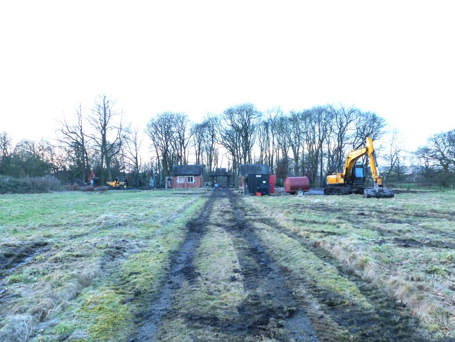 Calderstones Cemetery as it looked in December 2017. Contractors moved in with heavy machinery.    Pathways Associates