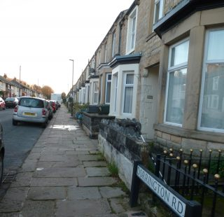 Dorrington Road, in the ward of Scotforth, Lancaster in November 2019. At the back of these houses is the main west coast railway line. The Royal Albert was directly across from the street, on the other side of the tracks.  | Nigel Ingham