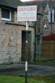 'Danger Patients Crossing' - Royal Albert Sign