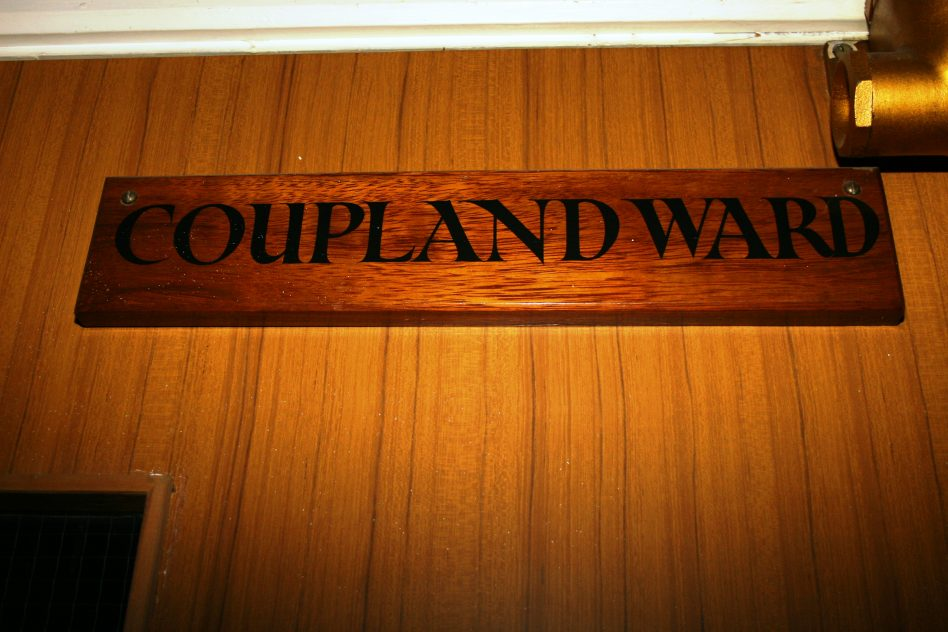 The door to Coupland Ward, the Royal Albert. This was the locked punishment ward for women. This photo was taken in 2006, 10 years after the Albert's closure.  | Mandy Cody