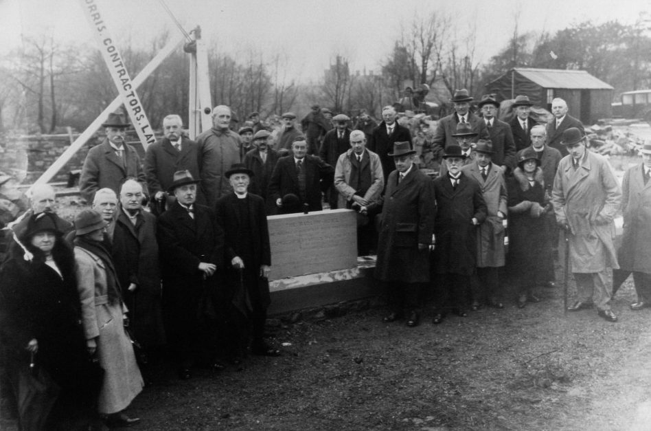 The laying of the foundation stone of Barlow Home by Alderman JT Travis Clegg in 1932.  | Lancashire County Museums Service