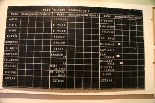'Ward Dietary Requirements'. This hung in the Royal Albert kitchens and was there when it closed in 1996. It was exhibited (courtesy of Jamea Al Kauthar) in Lancaster City Museum in 2007, when this photograph was taken.  | Mandy Cody