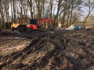 Heavy machinery at Calderstones Cemetery in early 2018.  | Mel Diack